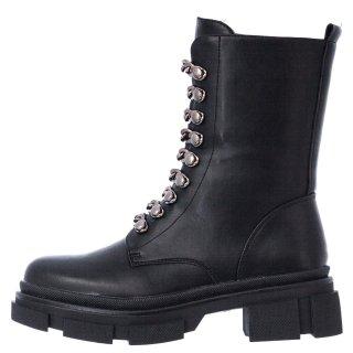 Γυναικεία Μποτάκια 210 EX8210 Eco Leather Μαύρο Seven