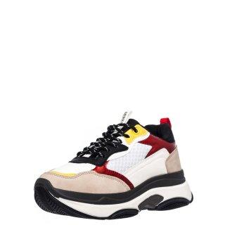 Γυναικεία Sneakers 269 Ύφασμα Eco Leather Λευκό Πολύχρωμο Seven