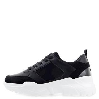 Γυναικεία Sneakers 50 21ΕΧ15 Eco Leather Eco Suede Μαύρο Seven