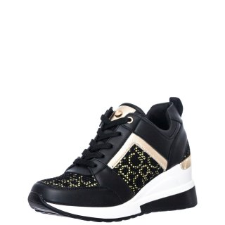 Γυναικεία Sneakers EX2131 Eco Leather Μαύρο Seven