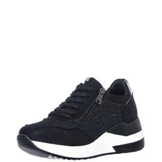 Γυναικεία Sneakers EX2220 Ύφασμα Eco Leather Μαύρο Seven