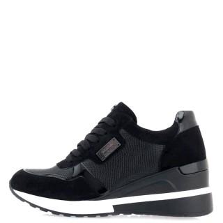 Γυναικεία Sneakers RG2252 Eco Suede Eco Leather Φίδι Μαύρο Seven