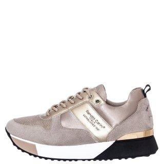 Γυναικεία Sneakers RG2262 Eco Leather Eco Suede Μπεζ Χρυσό Renato Garini