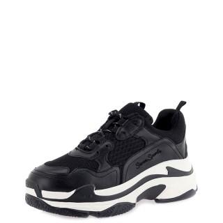Γυναικεία Sneakers SHN007 03AAJ Eco Leather Μαύρο Seven