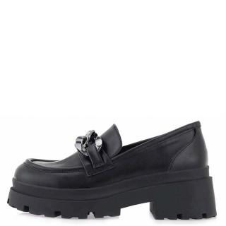 Γυναικεία Μοκασίνια W25136 W11 Eco Leather Μαύρο Seven