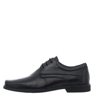 Ανδρικά Casual Παπούτσια 6813 Δέρμα Μαύρο Softies