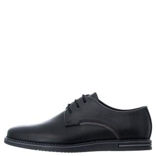 Ανδρικά Casual Παπούτσια 6971 Δέρμα Μαύρο Softies