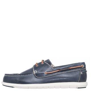 Ανδρικά Boat Shoes 213725 SANTIAGO Δέρμα Μπλέ Stonefly
