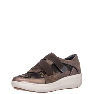 Γυναικεία Sneakers 214496 ROCK 11 Δέρμα Δέρμα Καστόρι Μπρονζέ Λαδί Stonefly