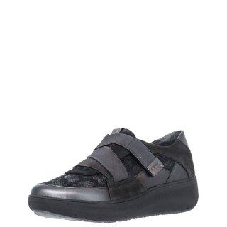 Γυναικεία Sneakers 214496 ROCK11 Δέρμα Γκρι Ανθρακί Stonefly