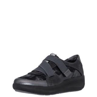 Γυναικεία Sneakers 214496 ROCK11 Δέρμα Δέρμα Καστόρι Γκρι Ανθρακί Stonefly