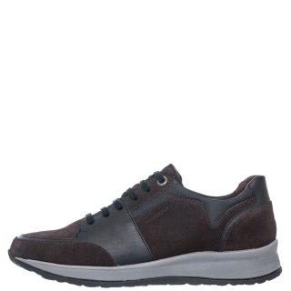 Ανδρικά Sneakers 214524 STORM2 Δέρμα Δέρμα Καστόρι Γκρι Stonefly