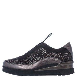 Γυναικεία Sneakers 214529 CREAM21 Δέρμα Καστόρι Γκρι Stonefly