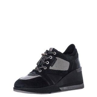 Γυναικεία Sneakers 214624 ELLA2 Δέρμα Καστόρι Μαύρο Stonefly