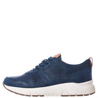 Ανδρικά Sneakers 215937 ACTION 5 WASHED GOAT Δέρμα Μπλέ Stonefly
