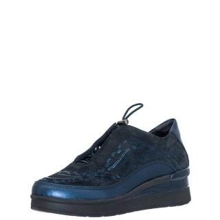 Γυναικεία Sneakers 216820 CREAM 21 Δέρμα Καστόρι Μπλέ Stonefly