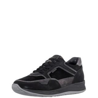 Ανδρικά Sneakers 216961 775 EDWARD 6 Δέρμα Δέρμα Καστόρι Μαύρο Γκρι Stonefly