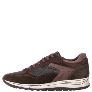 Ανδρικά Sneakers 217063 8IR EDWARD 4 Δέρμα Δέρμα Καστόρι Καφέ Λαδί Stonefly