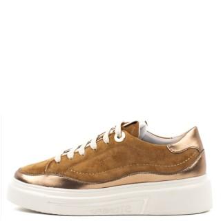 Γυναικεία Sneakers 217102 ALLEGRA 4 Δέρμα Καστόρι Ταμπά Μπρονζέ Stonefly