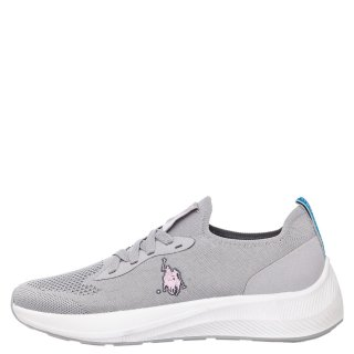 Γυναικεία Sneakers H042 MIA 3540 Ελαστικό Ύφασμα Γκρι USA POLO SPORT