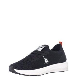 Ανδρικά Sneakers H043 MAX 4045 Ελαστικό Ύφασμα Μαύρο USA POLO SPORT