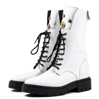 Γυναικεία Μποτάκια 156 21750 Δέρμα Λευκό Wall Street