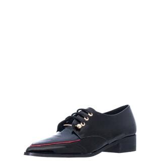 Γυναικεία Casual Παπούτσια 156 21834 Δέρμα Λουστρίνι Μαύρο Μπλέ Wall Street