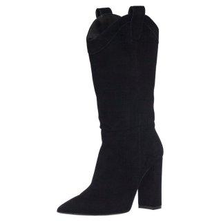 Γυναικείες Μπότες 439 19815 Δέρμα Καστόρι Μαύρο Wall Street