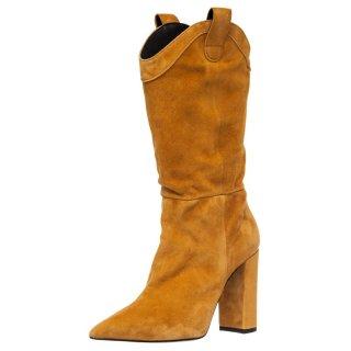 Γυναικείες Μπότες 439 19815 Δέρμα Καστόρι 'Ωχρα Wall Street