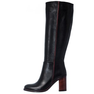 Γυναικείες Μπότες 469 20809 Δέρμα Μαύρο Wall Street