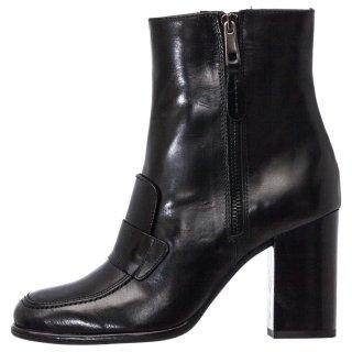 Γυναικεία Μποτάκια 681 19810 Δέρμα Μαύρο Wall Street