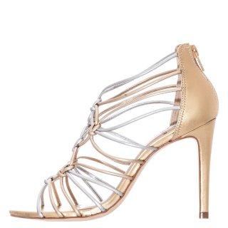 Γυναικεία Πέδιλα 10020485 Δέρμα Χρυσό Werner