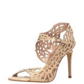 Γυναικεία Πέδιλα 120278 Δέρμα Χρυσό Werner