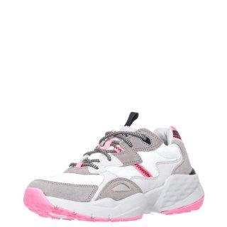 Γυναικεία Sneakers WL01650A ICONIC90 Ύφασμα Δέρμα Καστόρι Eco Leather Λευκό Γκρι Wrangler