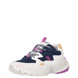 Γυναικεία Sneakers WL01650A ICONIC90 Ύφασμα Δέρμα Καστόρι Eco Leather Γκρι Μπλέ Wrangler