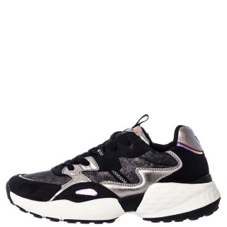 Γυναικεία Sneakers WL02690A ICONIC90 Δέρμα Δέρμα Καστόρι Μαύρο Ατσαλί Wrangler