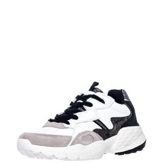 Γυναικεία Sneakers WL02691AICONIC90 SNAKE Δέρμα Δέρμα Καστόρι Λευκό Wrangler