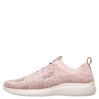 Γυναικεία Sneakers WL11530A FREESBEE LACE Ελαστικό Ύφασμα Ροζ Wrangler