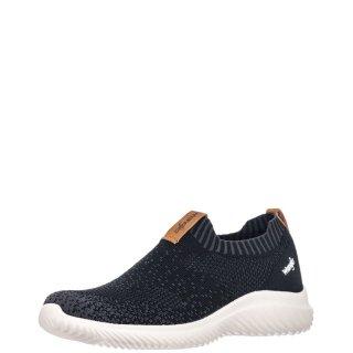 Γυναικεία Sneakers WL11531A FREESBEE SLIP ON Ελαστικό Ύφασμα Μαύρο Wrangler