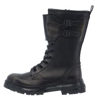 Γυναικείες Μπότες WL12573A CLASH COMBAT Δέρμα Μαύρο Χακί Wrangler