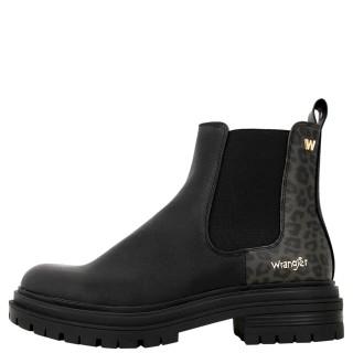 Γυναικεία Μποτάκια WL12612A COURTNEY SAFARI CHEL Eco Leather Λάστιχο Μαύρο Wrangler