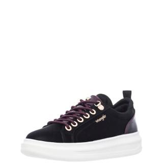 Γυναικεία Sneakers WL12630A JOLIN Eco Leather Μαύρο Μπορντώ Wrangler