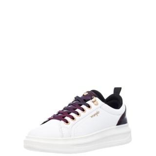 Γυναικεία Sneakers WL12630A JOLIN Eco Leather Λευκό Μπορντώ Wrangler