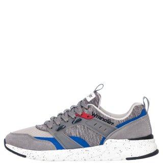 Ανδρικά Sneakers WM01110A ICONIC Ύφασμα Δέρμα Καστόρι Γκρι Wrangler