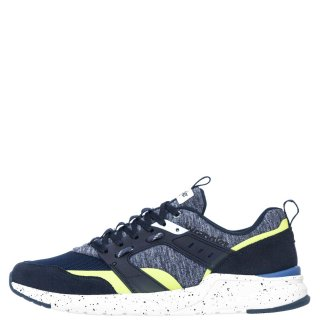 Ανδρικά Sneakers WM01110A ICONIC Ύφασμα Δέρμα Καστόρι Μπλέ Wrangler