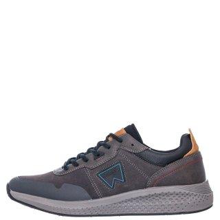Ανδρικά Sneakers WM02090A SEQUOIA PATCH Δέρμα Καστόρι Γκρι Wrangler