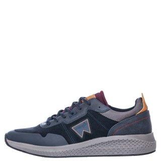 Ανδρικά Sneakers WM02090A SEQUOIA PATCH Δέρμα Καστόρι Μπλέ Wrangler