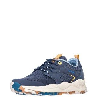 Ανδρικά Sneakers WM11080A CROSSY Δέρμα Ύφασμα Μπλέ Wrangler