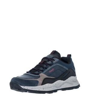 Ανδρικά Sneakers WM12101A CROSSY PEAK Δέρμα Ύφασμα Μπλέ Wrangler