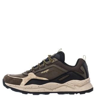 Ανδρικά Sneakers WM12101A CROSSY PEAK Δέρμα Ύφασμα Χακί Wrangler
